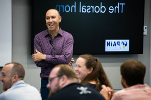 Lorimer Moseley continuing education event at AG老虎机 in September 2019