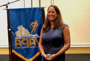 Rachel Carlson, adjunct professor of 医师助理研究 at AG老虎机 is named Virginia's PA of the Year.