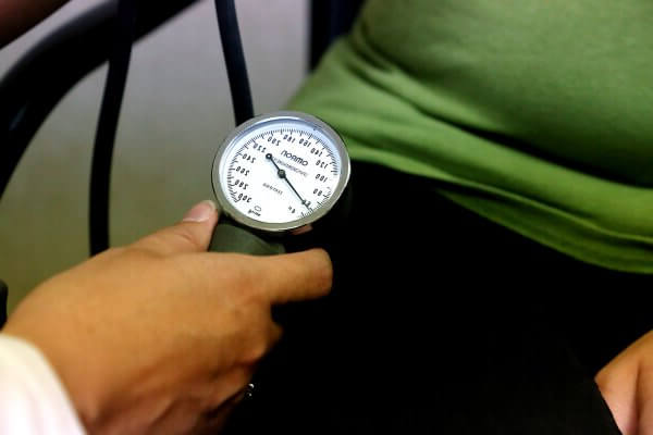 Blood pressure reading photo