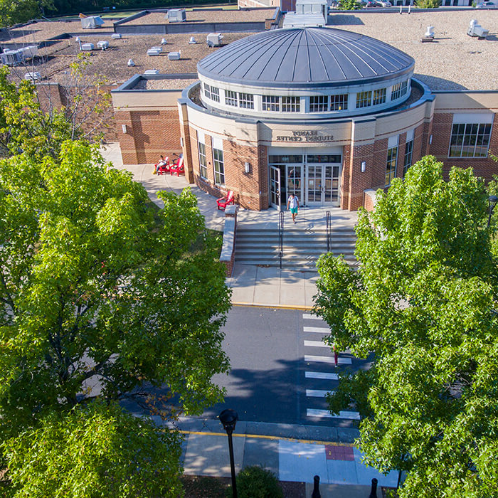 Sky view of Brandt Student Center